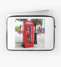 Red Phone Booth, London England Laptop Sleeve