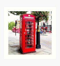 Red Phone Booth, London England Art Print