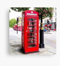 Red Phone Booth, London England Canvas Print
