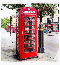 Red Phone Booth, London England Poster