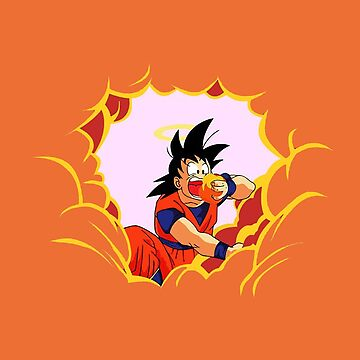 Goku in the clouds by sarakh95