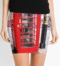 Red Phone Booth, London England Mini Skirt