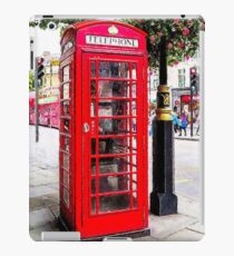 Red Phone Booth, London England iPad Case/Skin