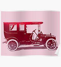 1909 Packard Limousine Red Pop Poster