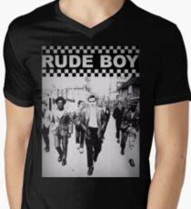 Unhöflicher Junge T-Shirt mit V-Ausschnitt für Männer