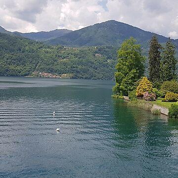Lake Orta view by OllieandQuinn