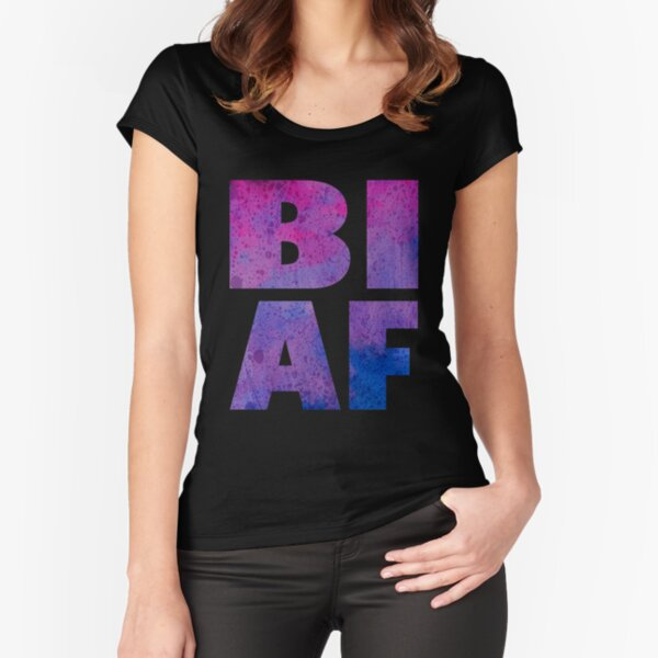 Bi AF Fitted Scoop T-Shirt