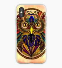 Ornate Owl in Color iPhone Case
