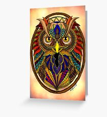 Ornate Owl in Color Greeting Card