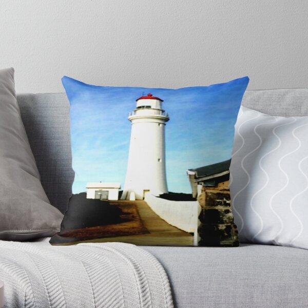 Cape Nelson Lighthouse  Throw Pillow