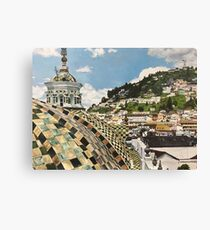 Overlooking Quito, Ecuador Canvas Print