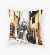 Venetian Gondoliers Throw Pillow