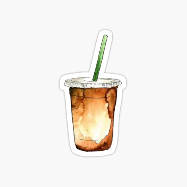 Ich habe eine andere Version dieses Aufklebers nur noch größer gepostet! https://www.redbubble.com/people/stickersnstuff/works/42787620-iced-coffee-bigger?asc=u  Vielen Dank an alle für das Feedback! Sticker