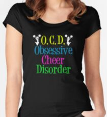 Cheerleader Obsessive Cheer Disorder Women's Fitted Scoop T-Shirt