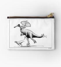 Parasaur wearing Pedspeeds Studio Pouch