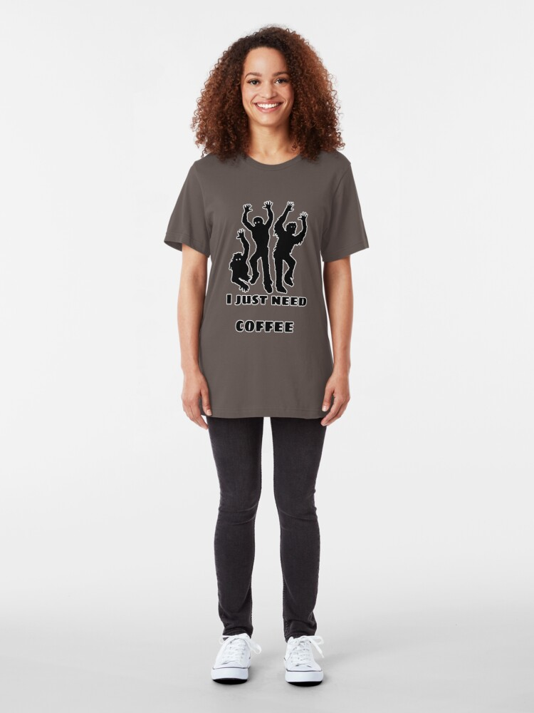 Alternate view of I just need coffee Slim Fit T-Shirt