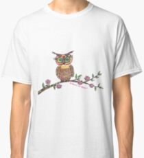 Colorful Owl Print Classic T-Shirt