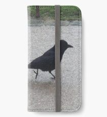A Crow Out for a Stroll iPhone Wallet/Case/Skin