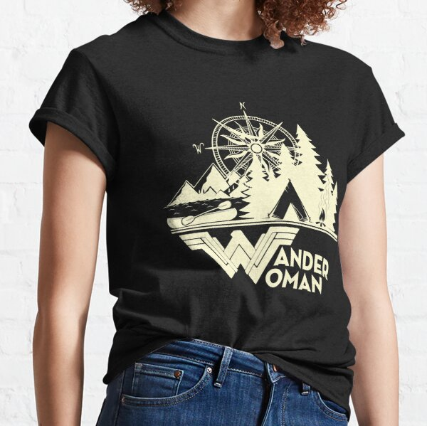 Womens Wander Woman Gift for Queen Of The Camper Tshirt Classic T-Shirt