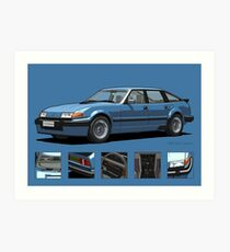 Rover Vitesse 1986 Moonraker Blue Art Print