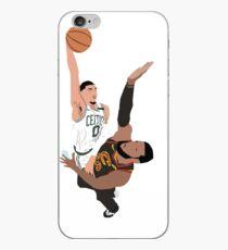Jayson Tatum Dunk on LeBron James iPhone Case