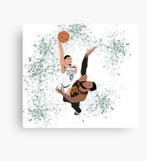 Jayson Tatum dunk on LeBron James Canvas Print