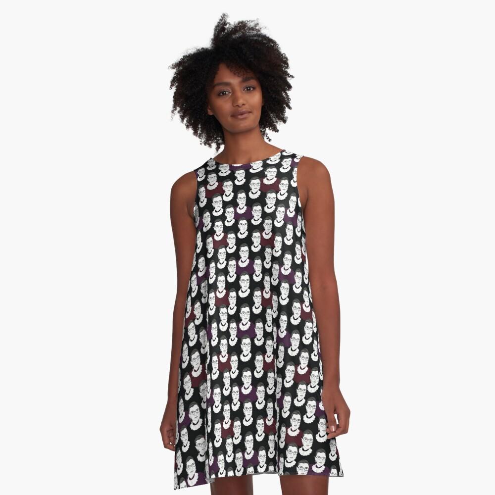 Ruth Bader Ginsburg Pattern A-Line Dress