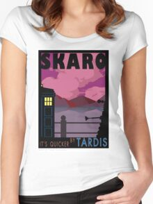SKARO QUICKER BY TARDIS Women's Fitted Scoop T-Shirt