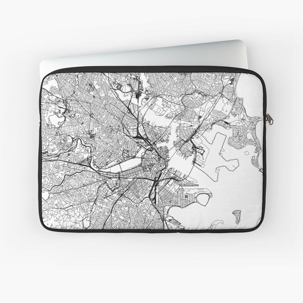 Boston Weiße Karte Laptoptasche