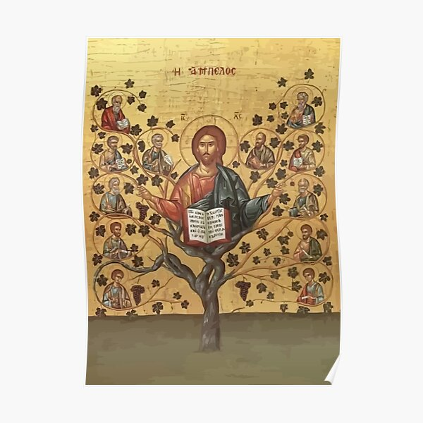 I Am The Vine Ye Are The Branches John 15:5 Poster