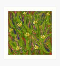 Dot matrix daffodils Art Print
