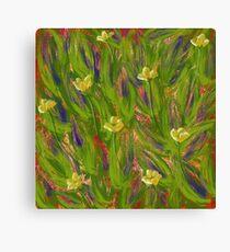 Dot matrix daffodils Canvas Print