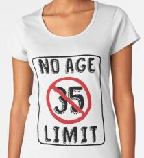 No Age Limit 35th Birthday Gifts Funny B Day For 35 Year Old Womens Premium