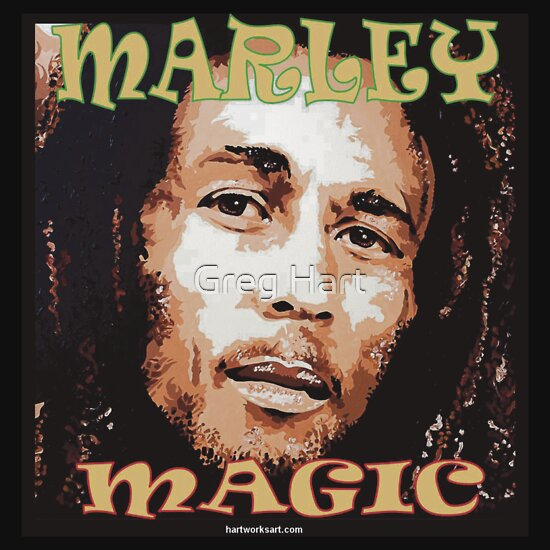 TShirtGifter presents: BOB MARLEY - 'MAGIC'