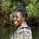 Sophie canoeing the Zambezi, Zimbabwe by Bev Pascoe