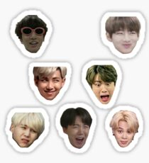 Pegatina BTS OT7 STICKER SHEET