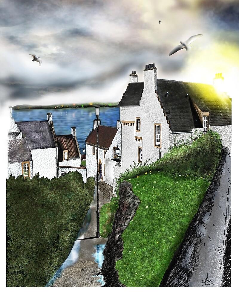 Dysart in Scotland: Architecture Art Print [Scottish Coastal Town ] by Grant Wilson