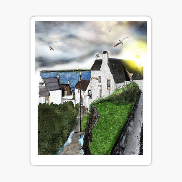 Dysart in Scotland: Architecture Art Print [Scottish Coastal Town ] Sticker