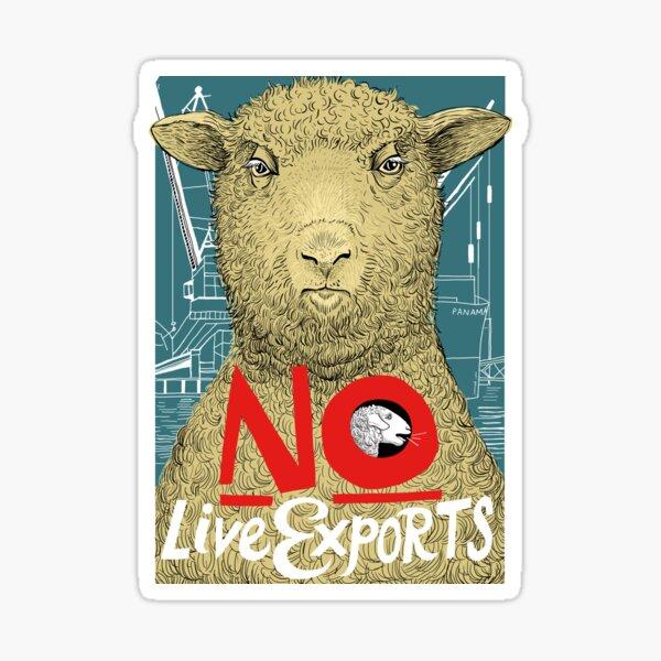 No to Live Export Sticker