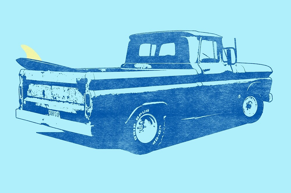 Vintage Surf Truck2 by mejiadesigns