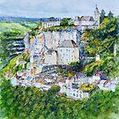 Rocamadour Aquarelle, France by Dai Wynn