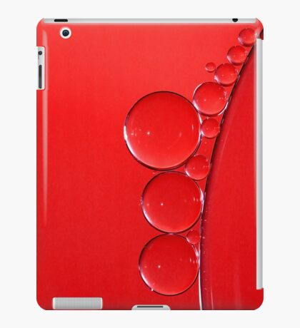 Red Bubbles iPad Case/Skin