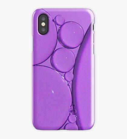 Purple Bubbles iPhone Case/Skin