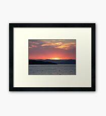 Flathead Lake Sunset Framed Print