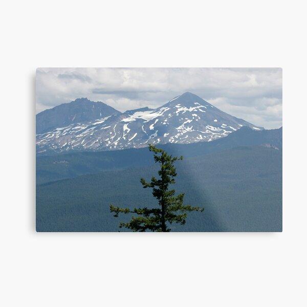 Three Sisters Mountain Metal Print