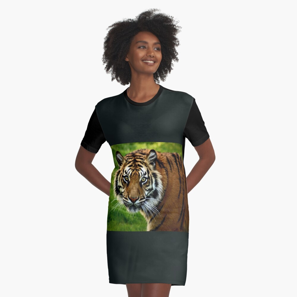 ~Sumatran Tiger! Graphic T-Shirt Dress Front