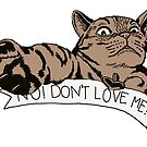 NO! DON'T LOVE ME CAT BLISS BROWN by patrickhelium