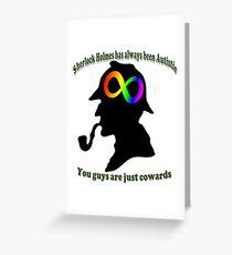 autistic sherlock Greeting Card