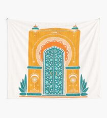 Autmun Gate - Golden Turkish Architecture Wall Tapestry