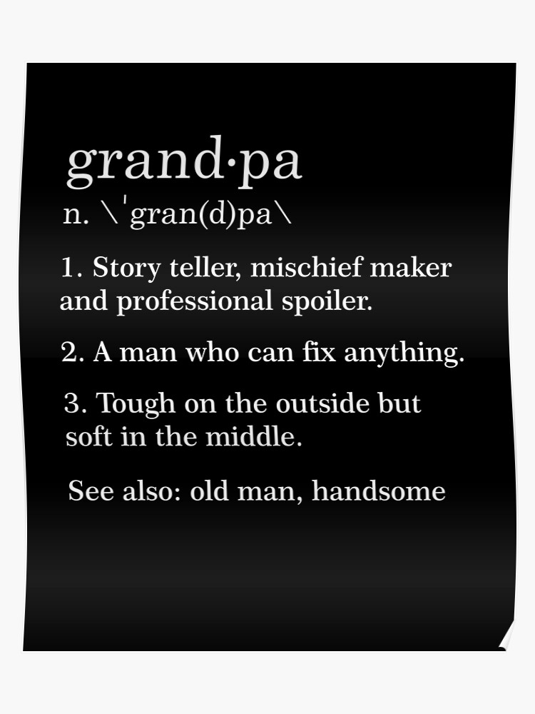 f9be213f Grandpa Definition Funny Meaning Grandfather Gift